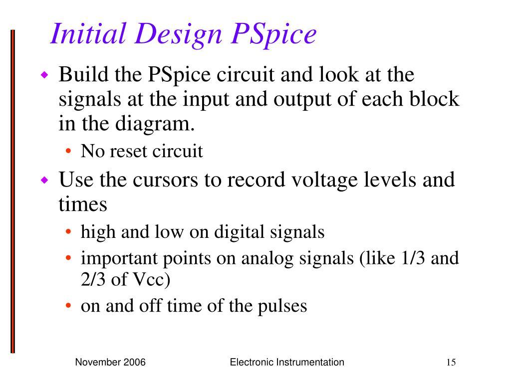 Initial Design PSpice