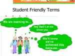 student friendly terms23