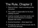 the rule chapter 2