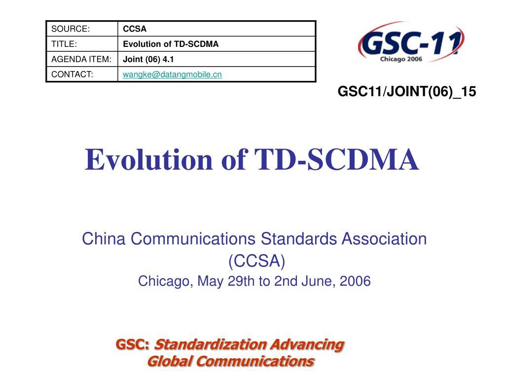 evolution of td scdma l.