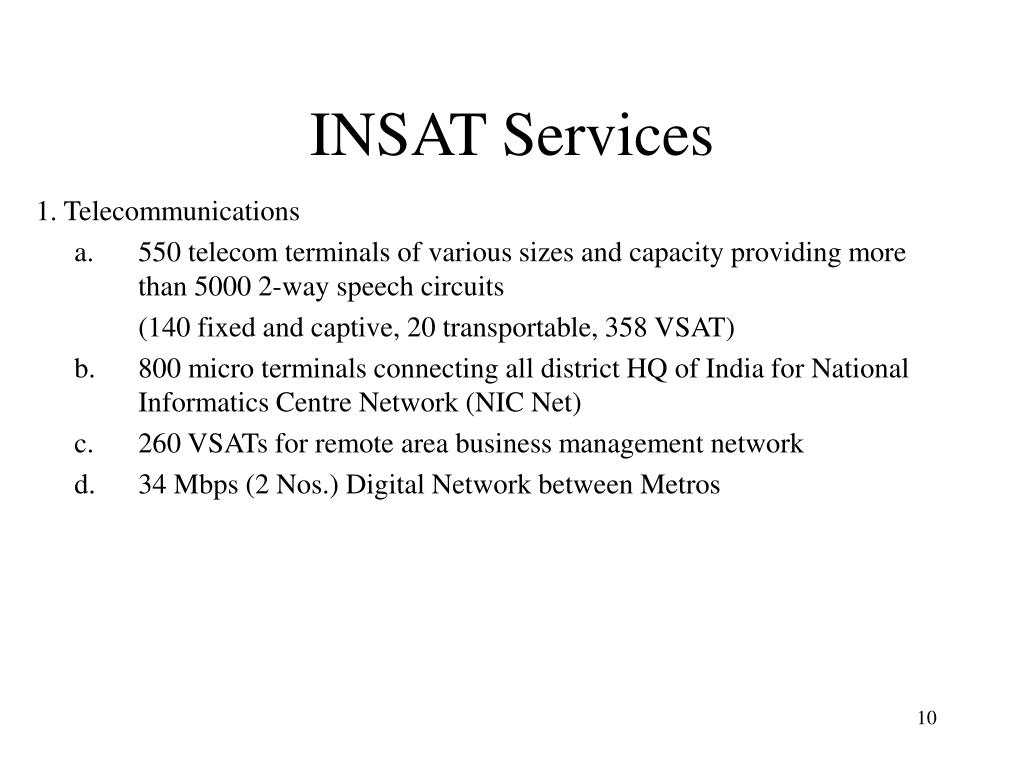 INSAT Services