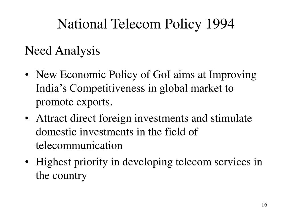National Telecom Policy 1994