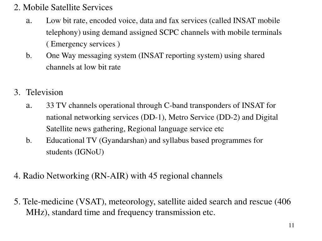 2. Mobile Satellite Services