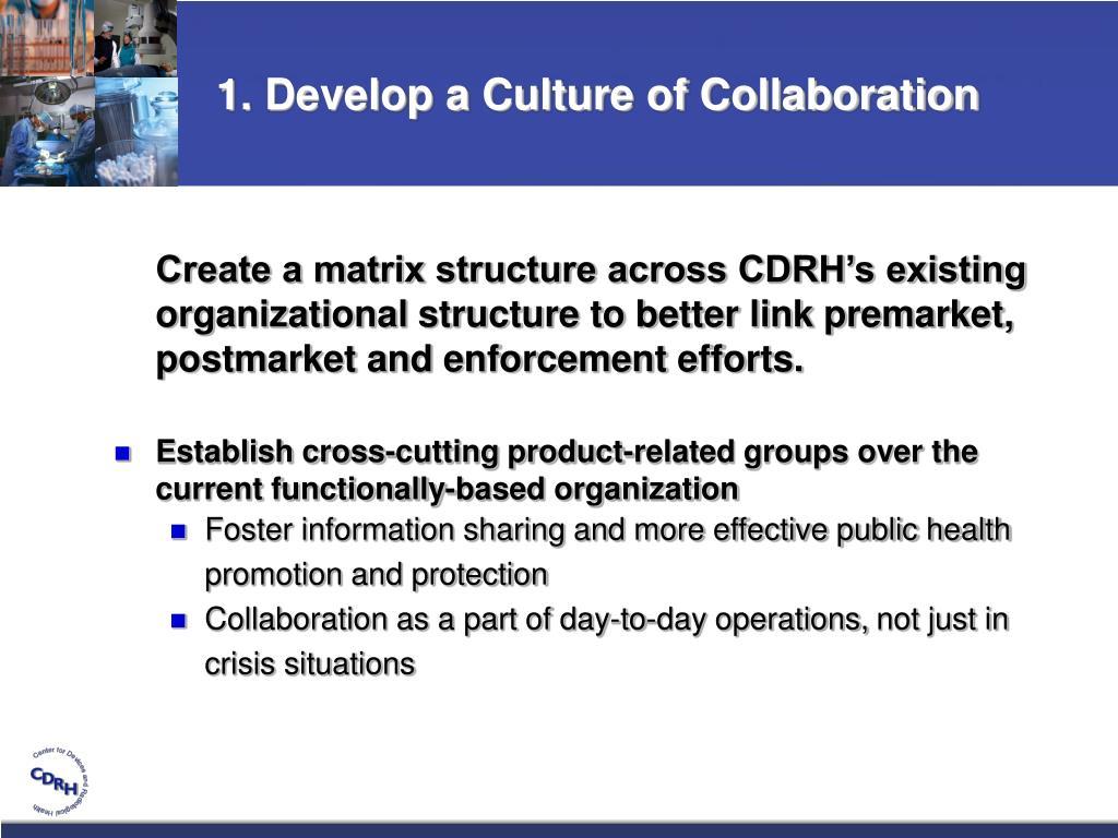 1. Develop a Culture of Collaboration