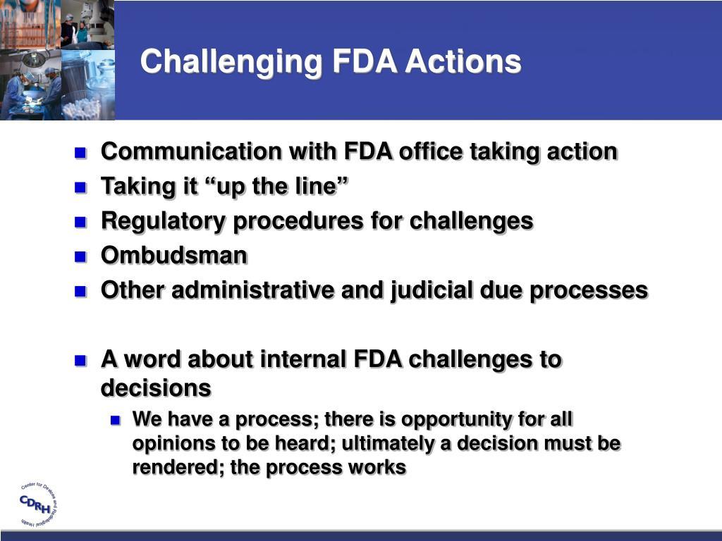 Challenging FDA Actions