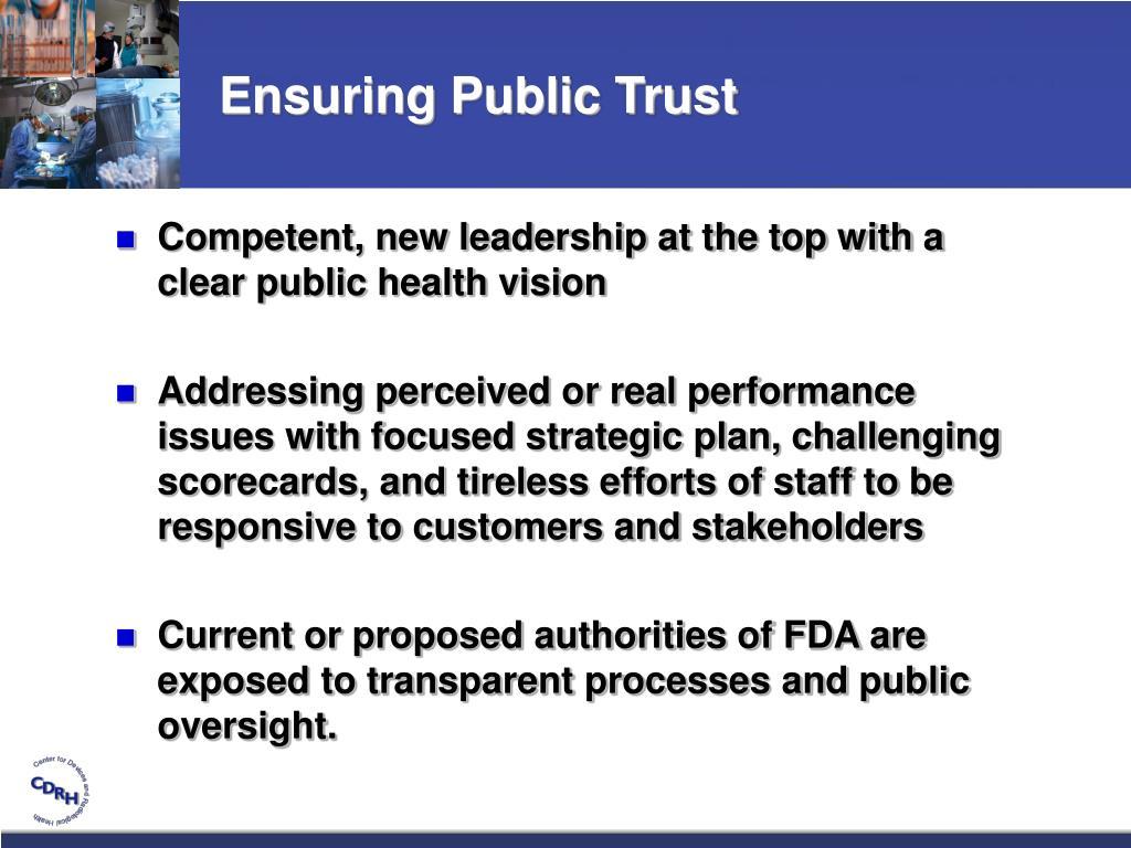 Ensuring Public Trust