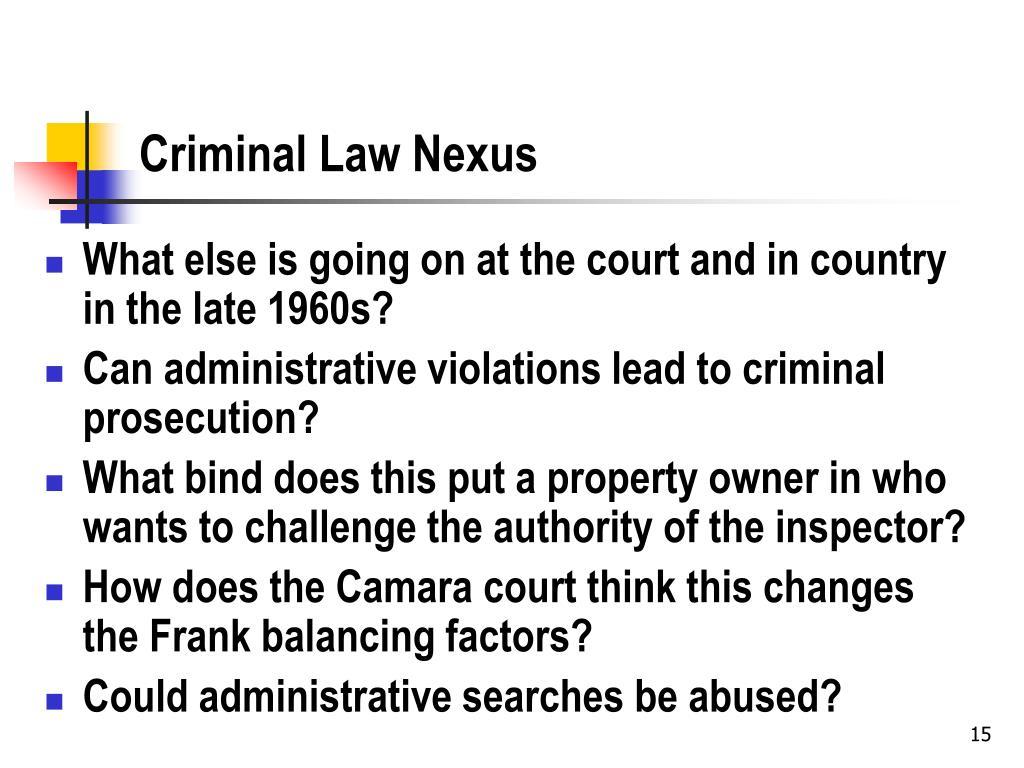 Criminal Law Nexus