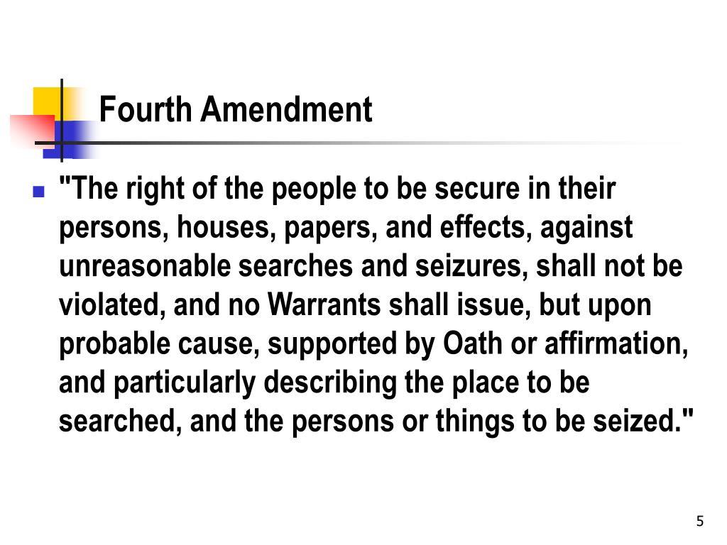 Fourth Amendment