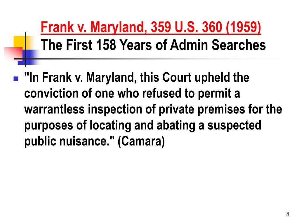 Frank v. Maryland, 359 U.S. 360 (1959)