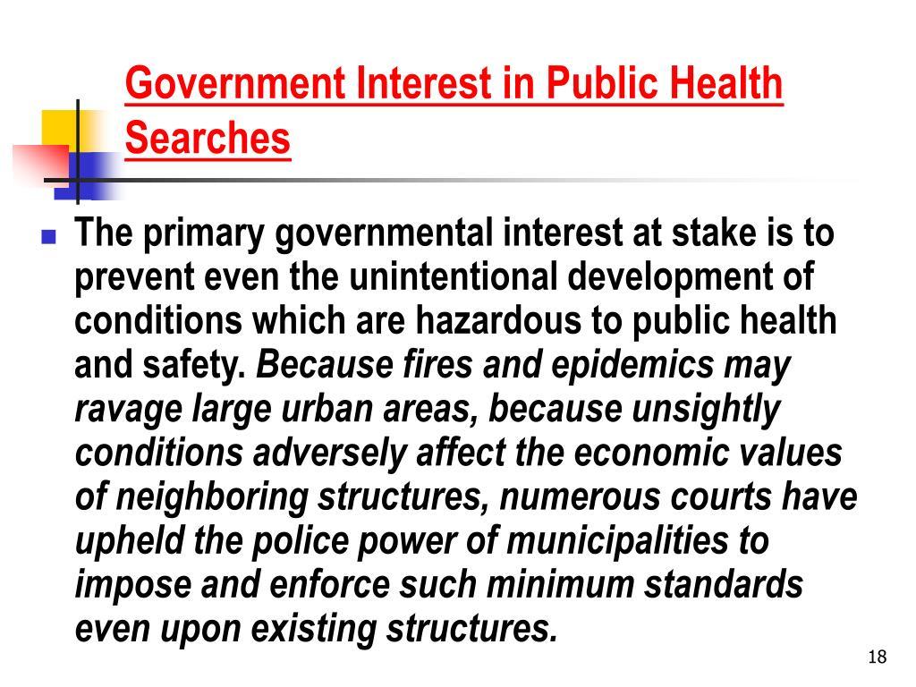 Government Interest in Public Health Searches