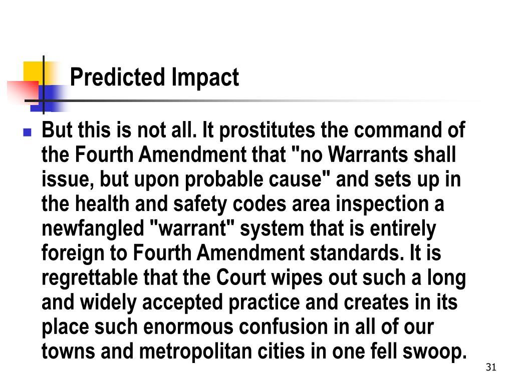 Predicted Impact