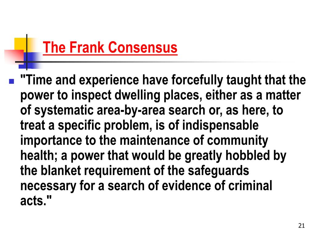 The Frank Consensus