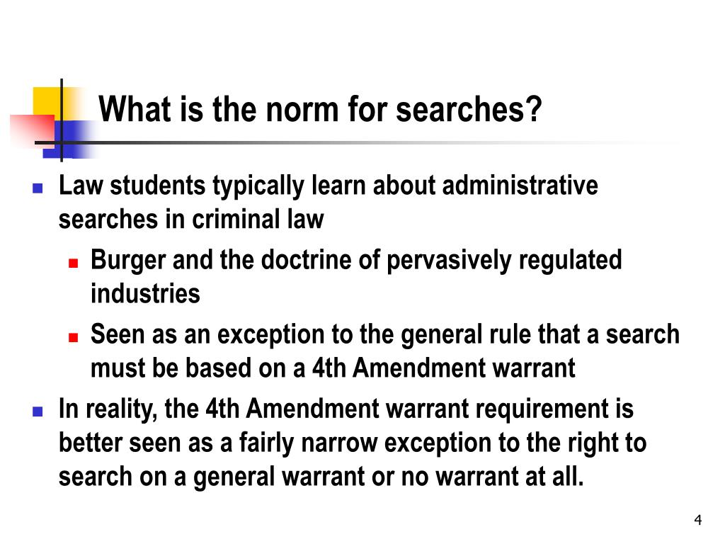 What is the norm for searches?
