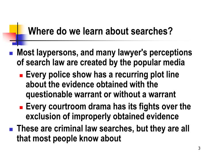 Where do we learn about searches