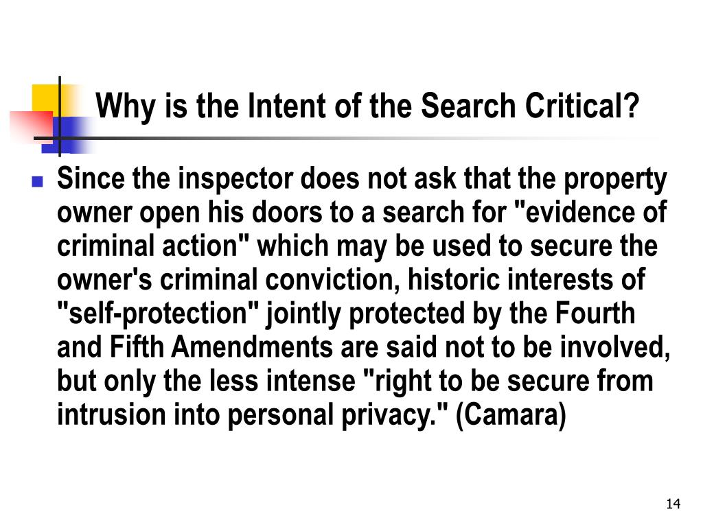 Why is the Intent of the Search Critical?