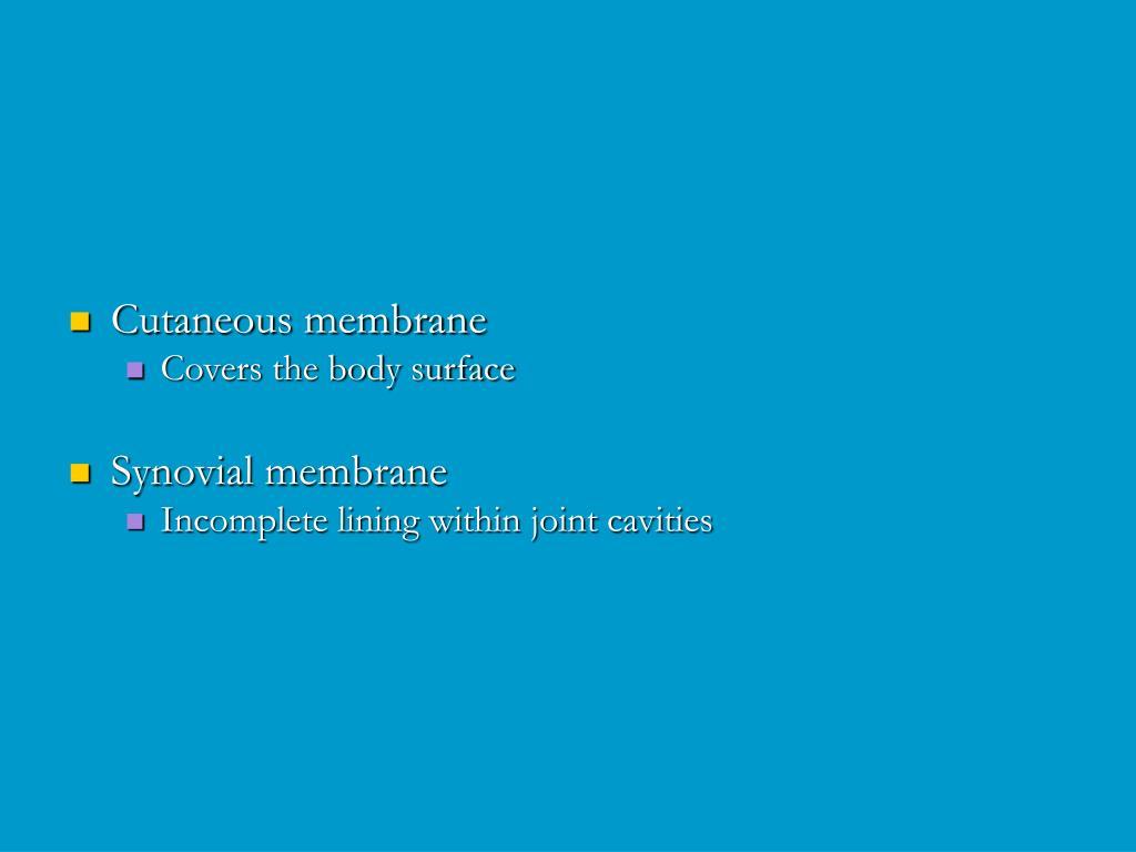 Cutaneous membrane