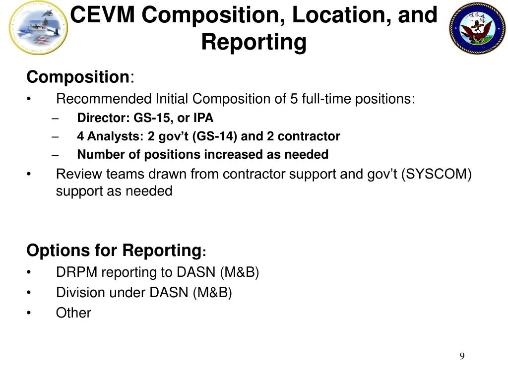 CEVM Composition, Location, and Reporting