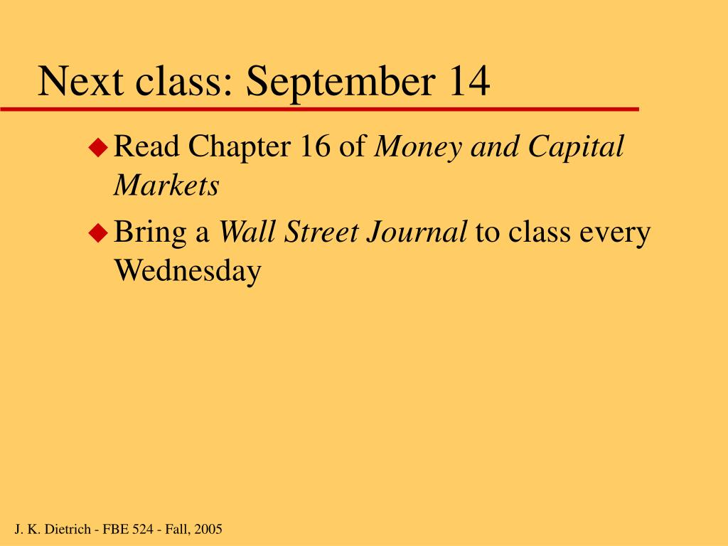 Next class: September 14