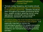risk based emphasis concept paper