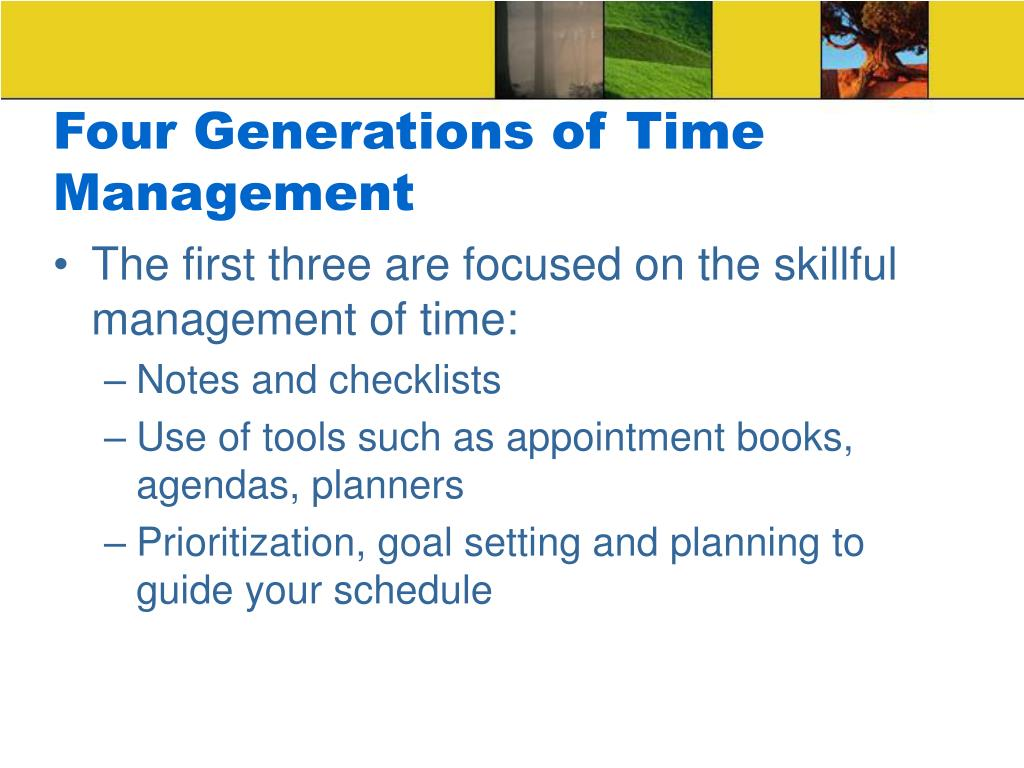 Four Generations of Time Management
