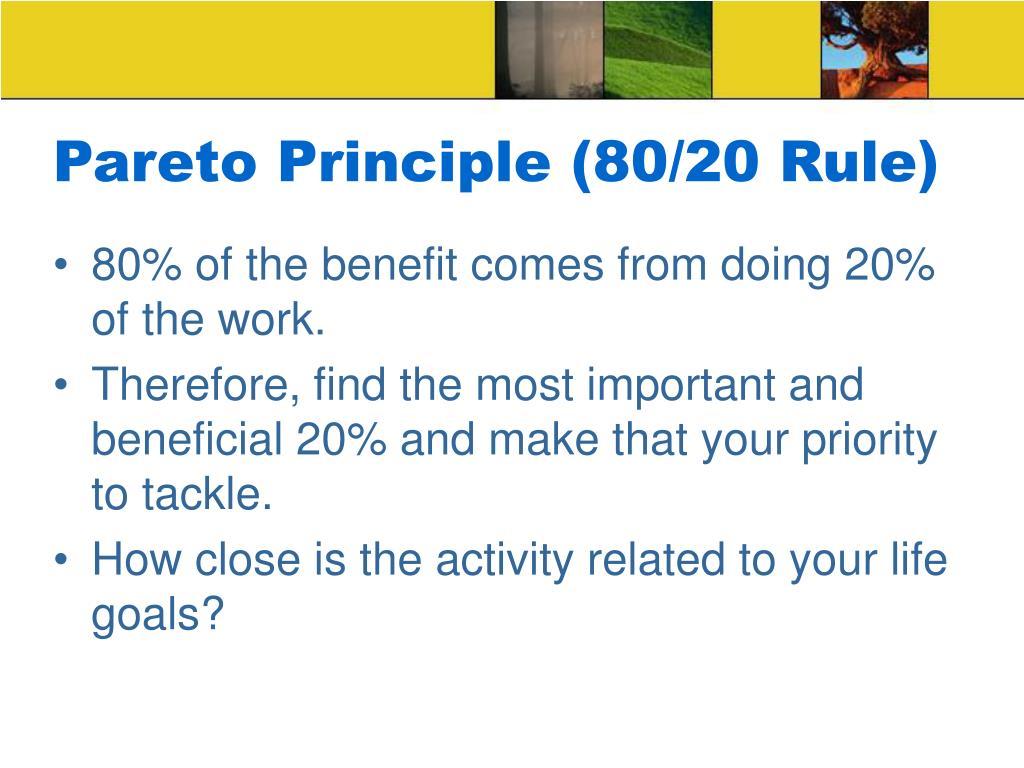 Pareto Principle (80/20 Rule)