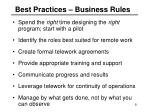 best practices business rules