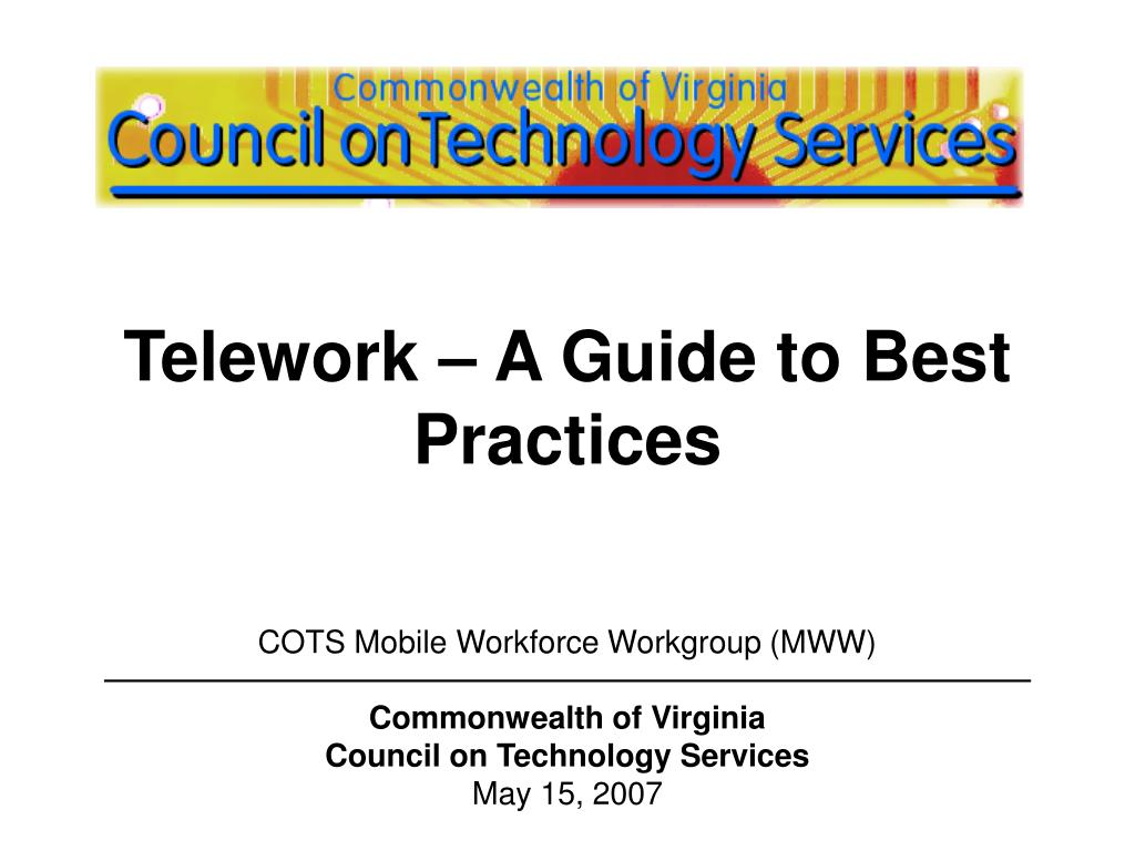 telework a guide to best practices l.
