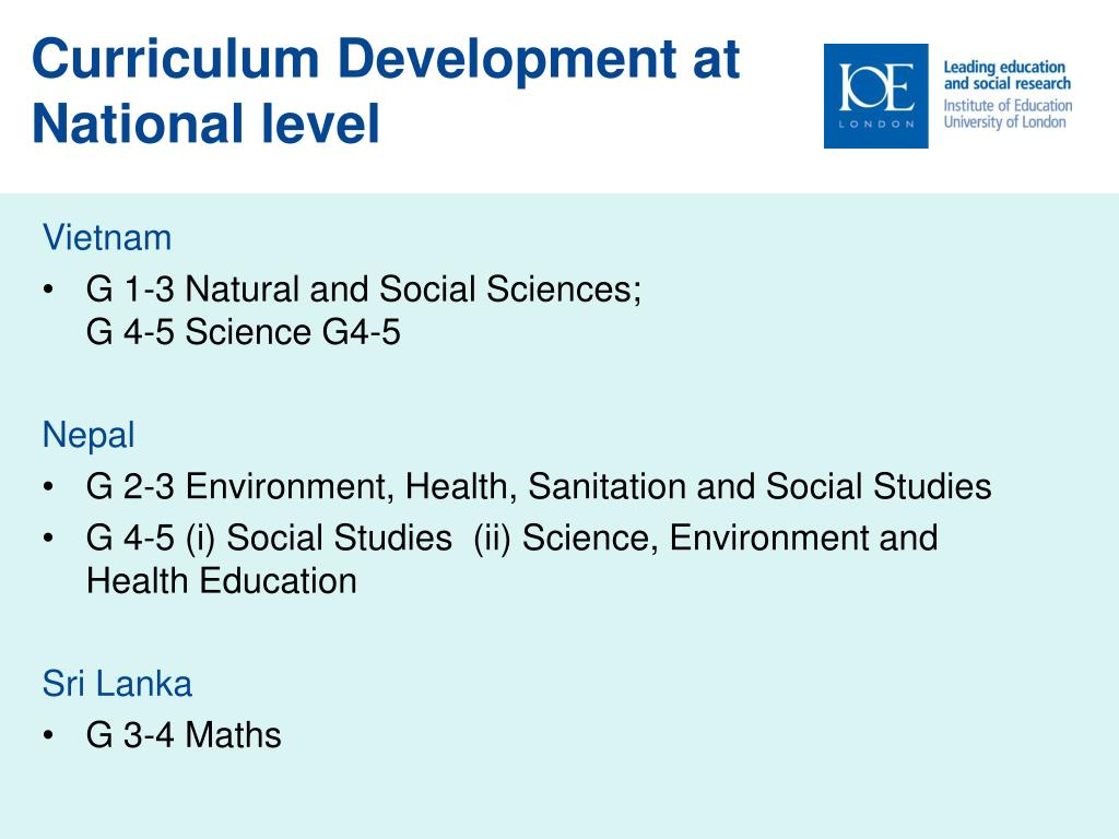 Curriculum Development at National level