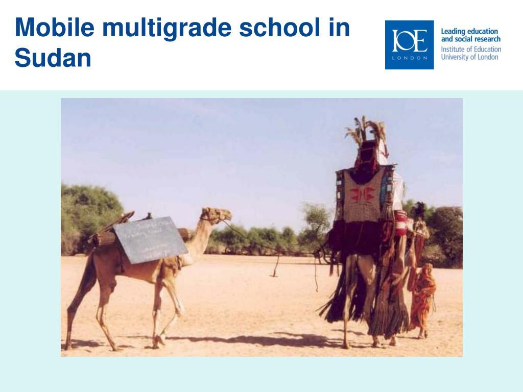 Mobile multigrade school in Sudan