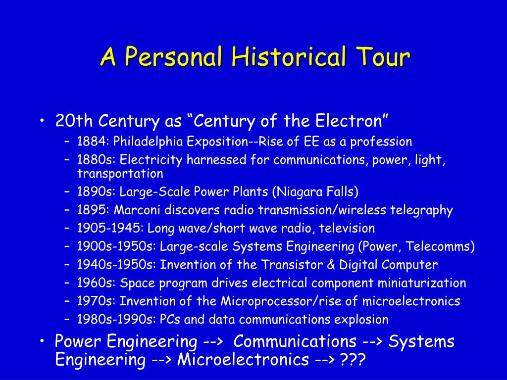 A Personal Historical Tour