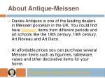 about antique meissen