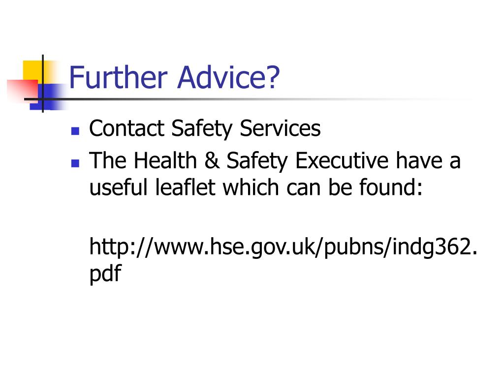 Further Advice?