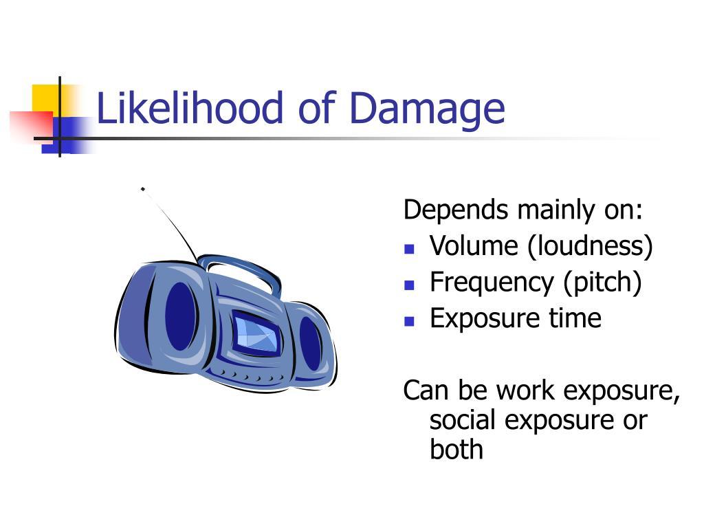 Likelihood of Damage