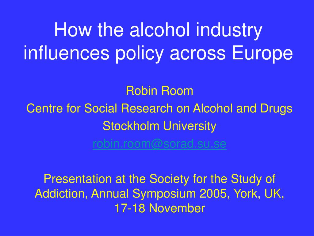 how the alcohol industry influences policy across europe