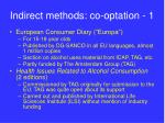 indirect methods co optation 1