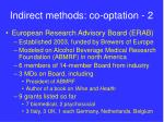 indirect methods co optation 2
