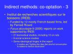 indirect methods co optation 3