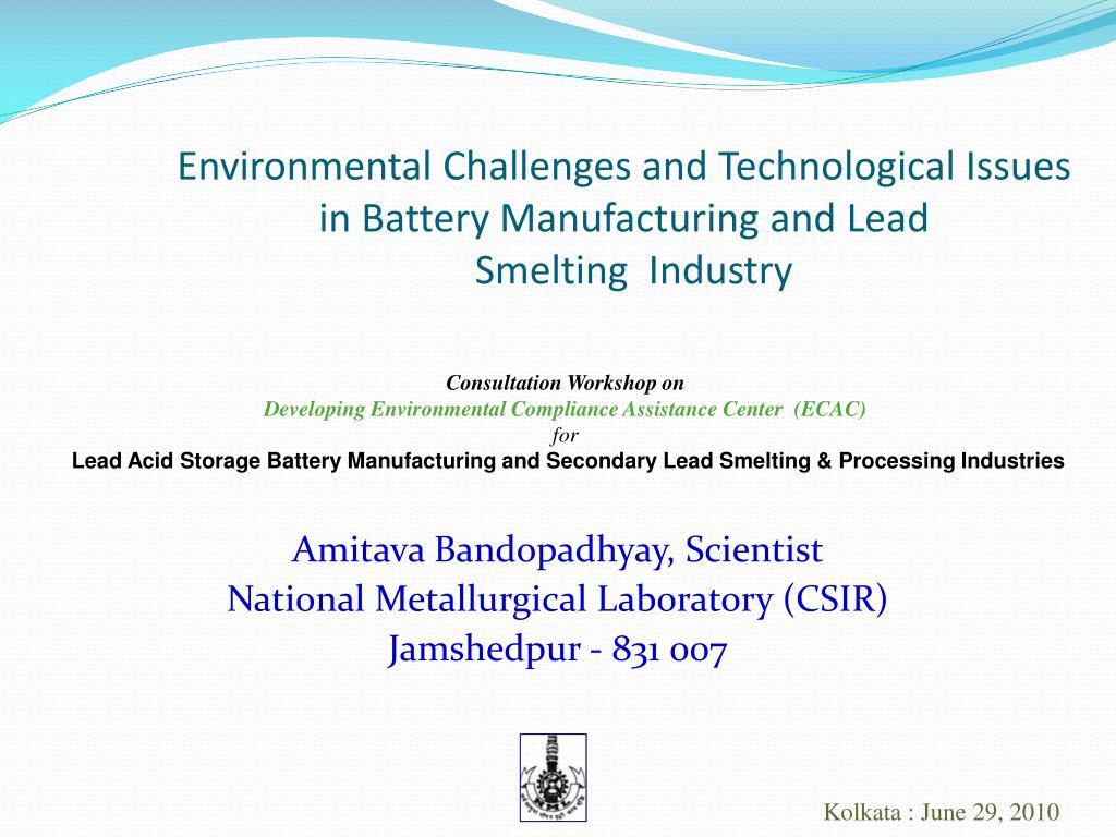 amitava bandopadhyay scientist national metallurgical laboratory csir jamshedpur 831 007 l.