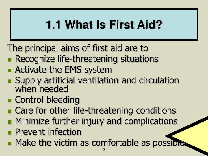 1 1 what is first aid