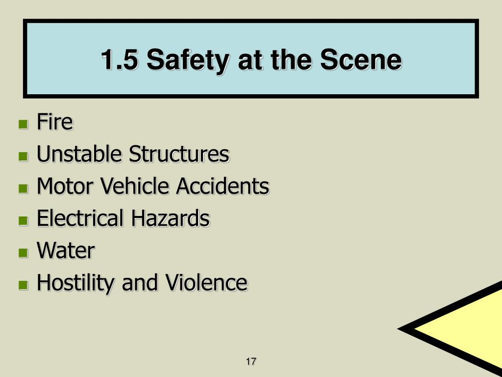 1.5 Safety at the Scene