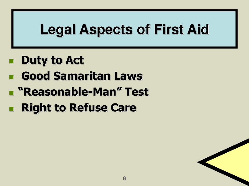 Legal Aspects of First Aid