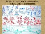 project 1 non uniformity of historical cultural and social processes