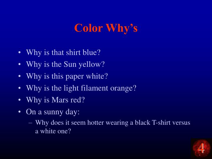 Color Why's