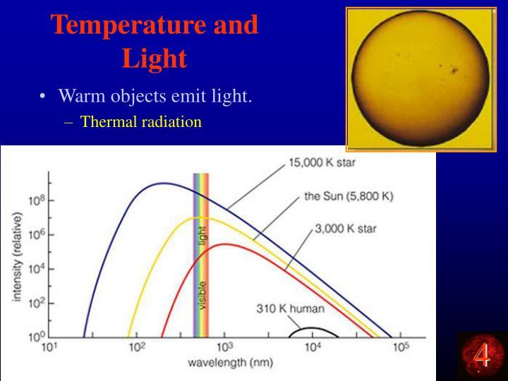 Temperature and Light