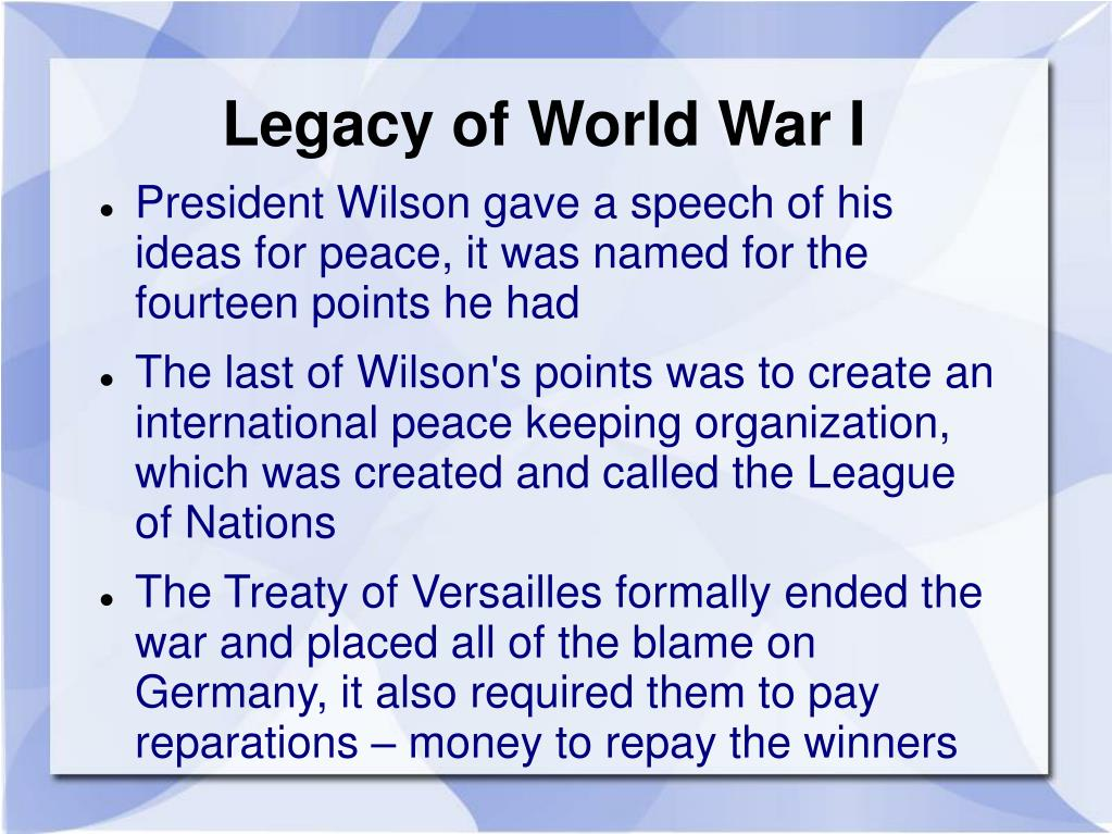 Legacy of World War I