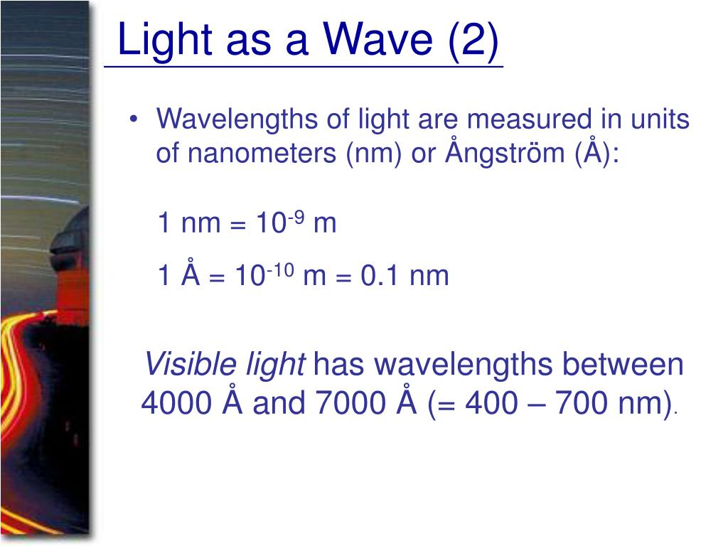 Light as a Wave (2)