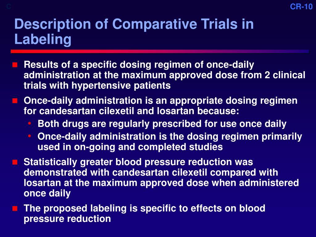 Description of Comparative Trials in Labeling