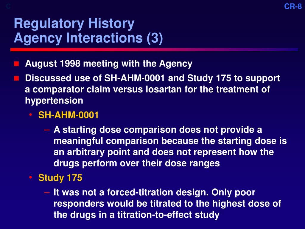 Regulatory History