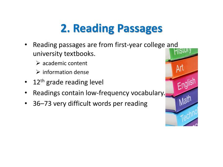 2 reading passages