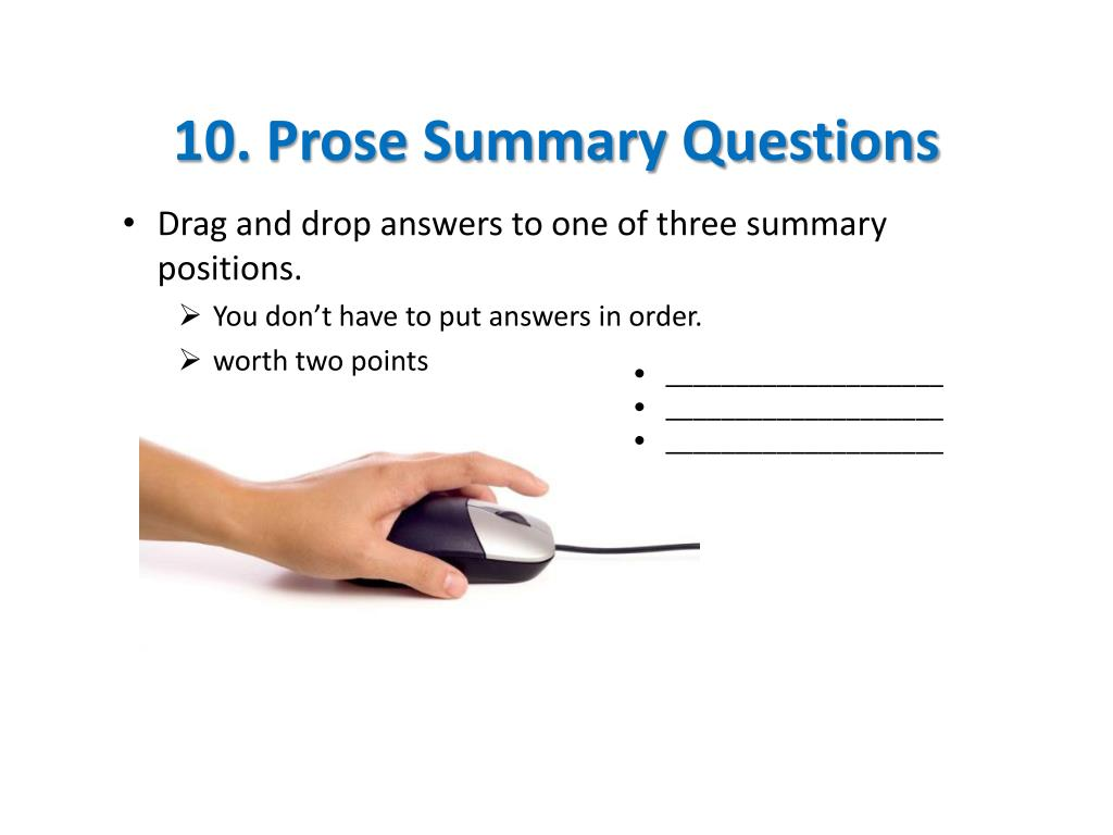 10. Prose Summary Questions